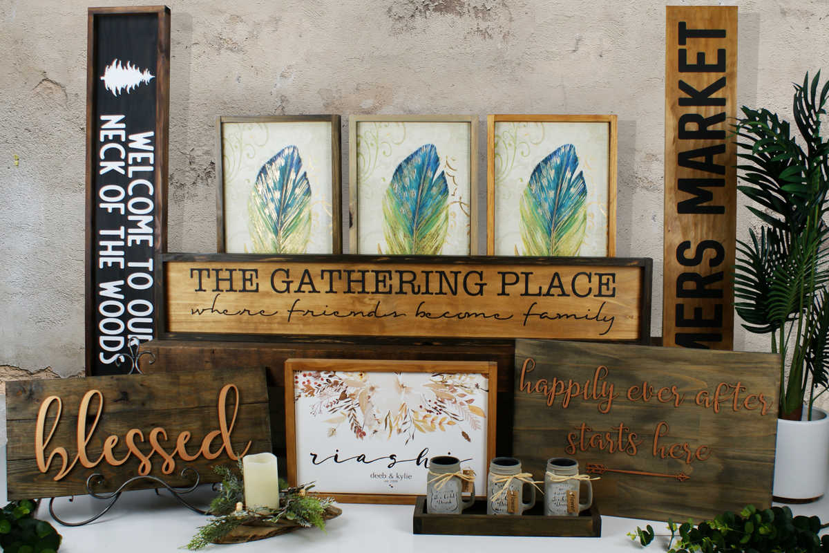 Beautiful Hand Crafted, Personalised Timber Signs & Artwork by Phoenix & Arrow